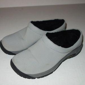 Merrell Damson Mule Shoes Women 6 Gray Canvas